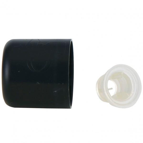 Verschluss mit Ausgussring, schwarz, 6 Stück