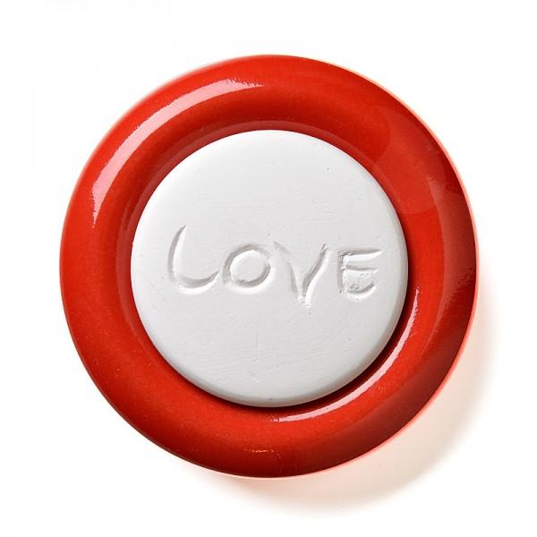 Duftstein Love mit rotem Unterteller