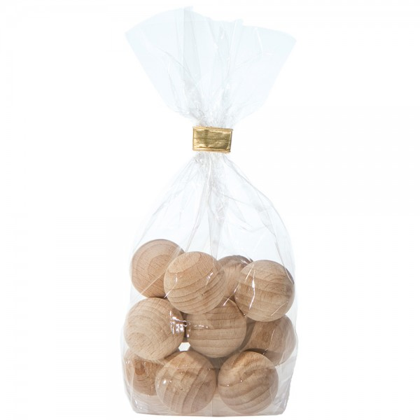 Duft-Dekokugeln aus Holz, 12er Pack