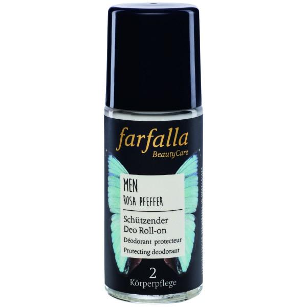 Farfalla Men Schützender Deo Roll-on Rosa Pfeffer