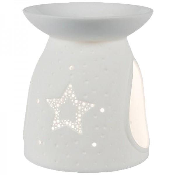 Porzellan-Duftlampe Stern