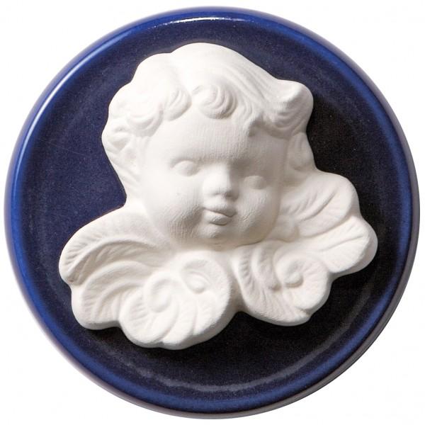 Duftstein Engel mit blauem Unterteller