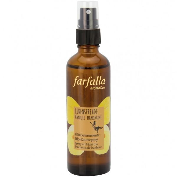 Farfalla Glücksmomente Bio-Raumspray Vanilla-Mandarine