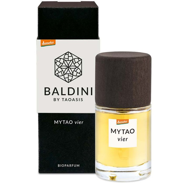 Bioparfum MYTAO vier Baldini by Taoasis