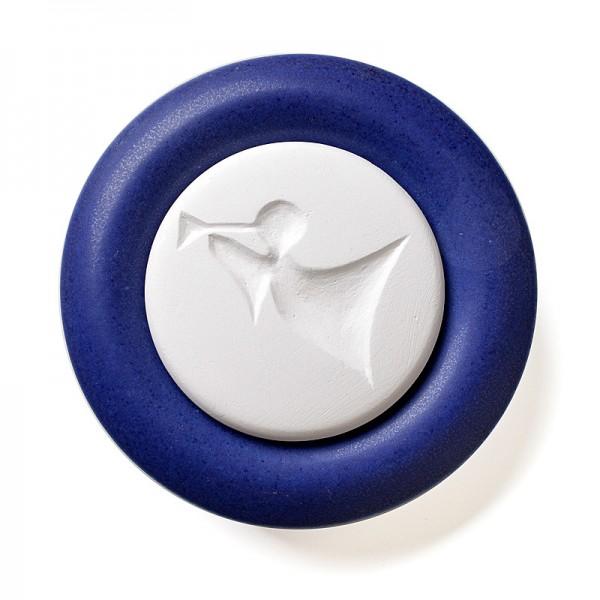Duftstein Engel abstrakt mit dunkelblauem Unterteller