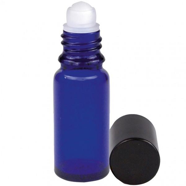 Blauglasflasche, 10 ml, mit Roll-On-Verschluss