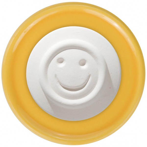 Duftstein Smiley mit gelbem Unterteller