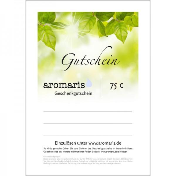 75 Euro-Geschenkgutschein