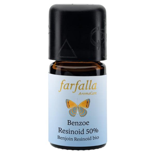 Benzoe Resinoid, 50% in Bio-Weingeist, 5 ml, bio, Wildsammlung